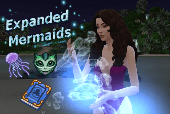 """Мод """"Улучшенные русалки"""" Sims 4: Expanded Mermaids"""