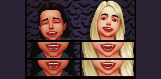 Мод на детей-вампиров в Sims 4: CHILD VAMPIRES