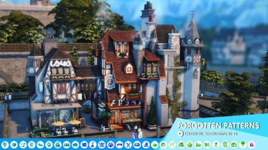 Парикмахерская и магазин для Sims 4: FORGOTTEN PATTERNS