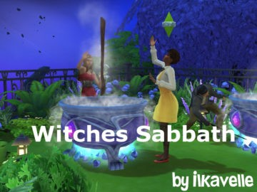Мод на шабаш ведьм в Sims 4 - Witches' Sabbath Event