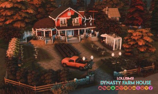 Большая династийная ферма для Sims 4: DYNASTY FARM HOUSE