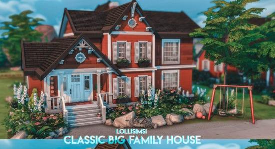 Большой династийный дом для Sims 4: CLASSIC BIG FAMILY HOUSE