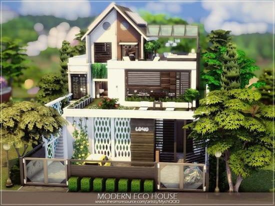 Современный эко-дом для Sims 4: Modern Eco House