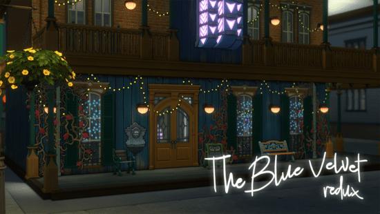Ночной клуб для Sims 4: the blue velvet
