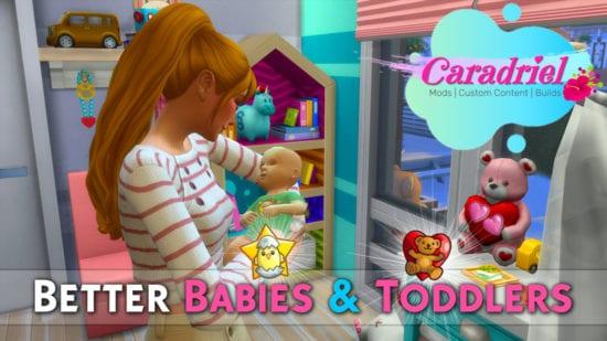 Мод на улучшенных малышей в Sims 4: Better Babies & Toddlers