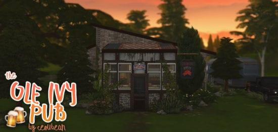 Деревенский бар в Sims 4: THE OLE IVY PUB