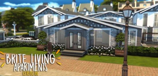 Большие жилые апартаменты в Sims 4: BRITE LIVING APARTMENTS