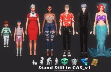 """Мод """"Неподвижность в редакторе создания персонажа"""" для Sims 4"""