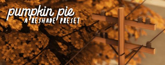 Теплый пресет для Reshade Sims 4: PUMPKIN PIE