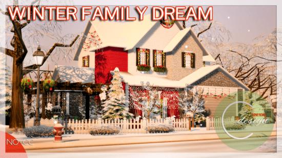 Рождественский дом Sims 4: WINTER FAMILY DREAM