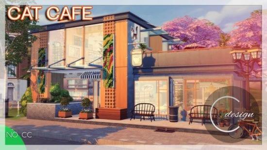Кошачье кафе для Sims 4: Cat Cafe