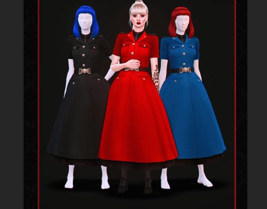 Женское платье в стиле милитари с пышной юбкой: Military Lolita Dress