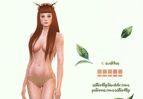 Веснушки Sims 4 на все тело: Freckles #8