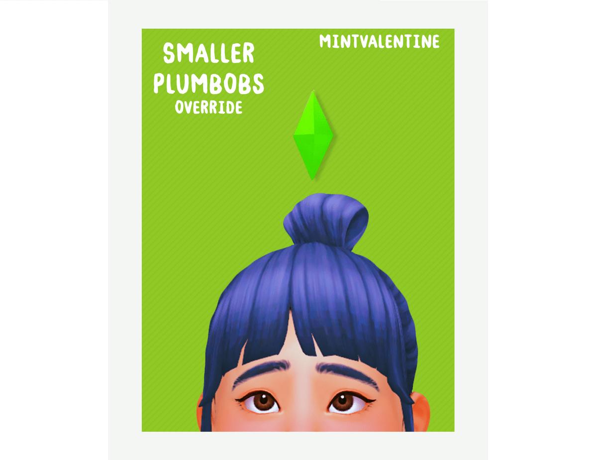 Мод на уменьшенный пламбоб Sims 4: Smaller Plumbobs