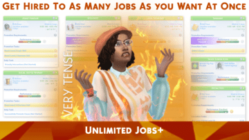 Мод на несколько карьер одновременно Unlimited Jobs для Sims 4