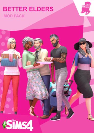 "Мод ""Улучшенные старики"" для Sims 4 - ""Better Elders"""