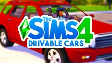 Функциональный автомобиль для Sims 4 - Ride Cars Mod