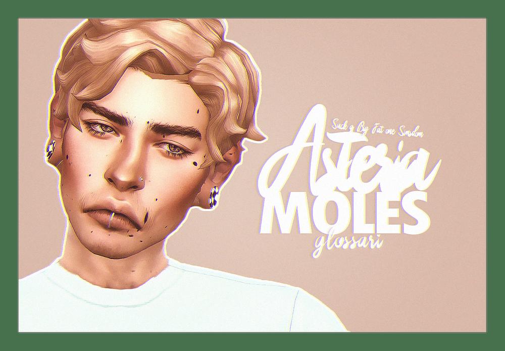 Аккуратные родинки на все тело для Sims 4: ASTERIA MOLES