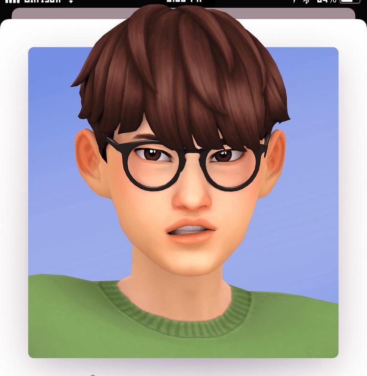 Мужская прическа со стильной стрижкой Sims 4: oras hair