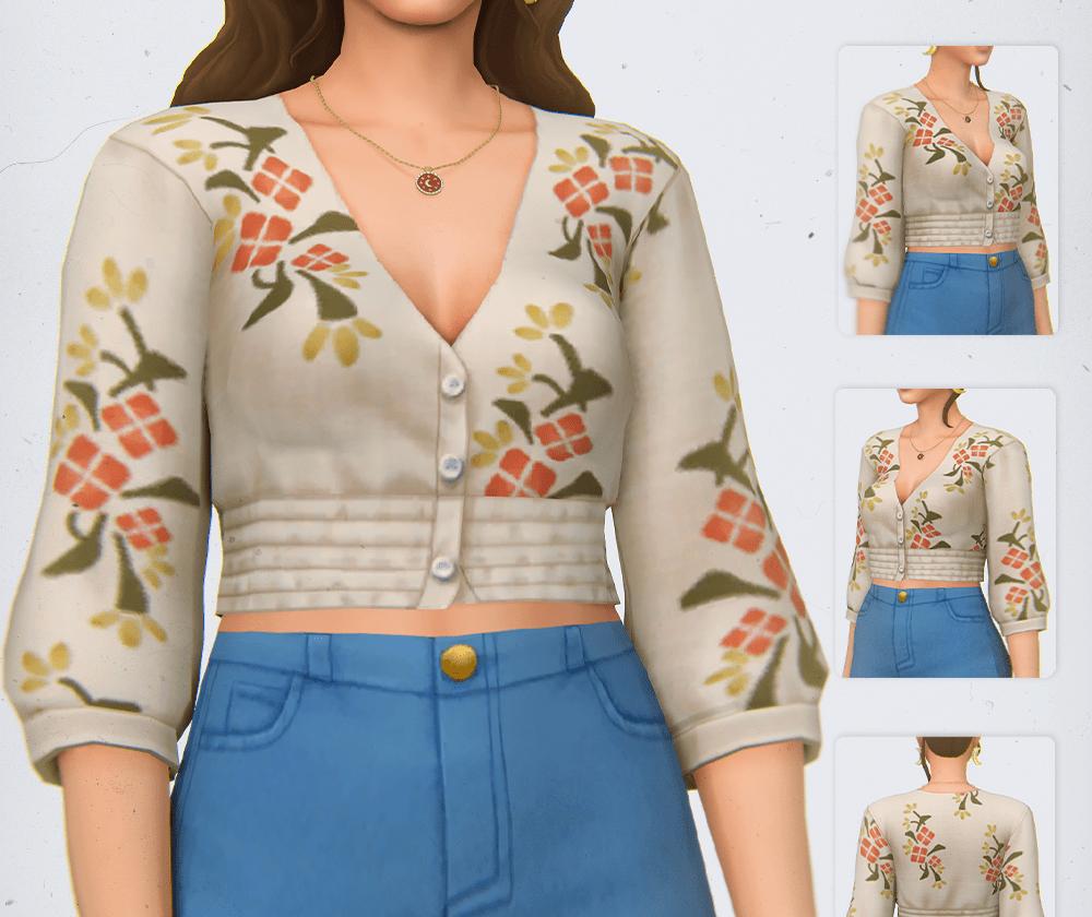 Женская блуза с цветочным принтом Sism 4: NOLA BLOUSE