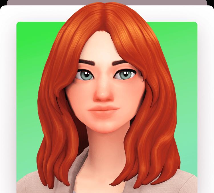 Женская прическа с пышными волосами и укладкой Sims 4: sonia hair