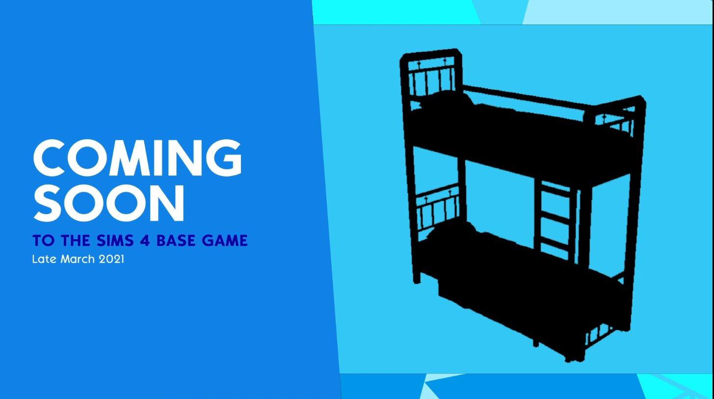В базовую версию Sims 4 добавят двухъярусные кровати