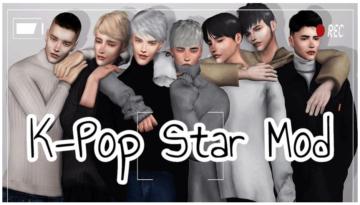 Мод на карьеру айдола в К-Поп для Sims 4: K-Pop Star