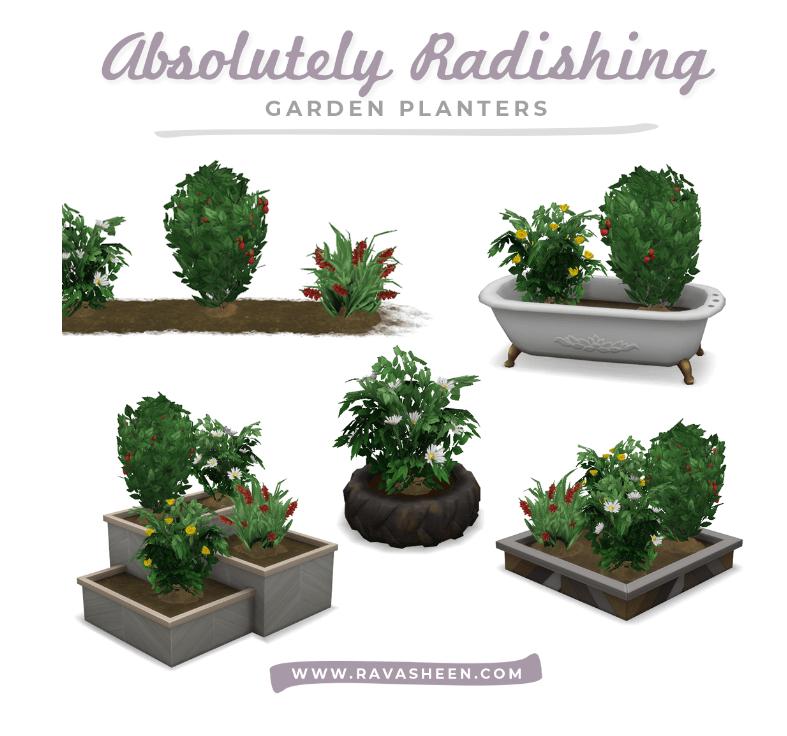Набор для улучшенного садоводства Sims 4: Absolutely Radishing Garden Planters