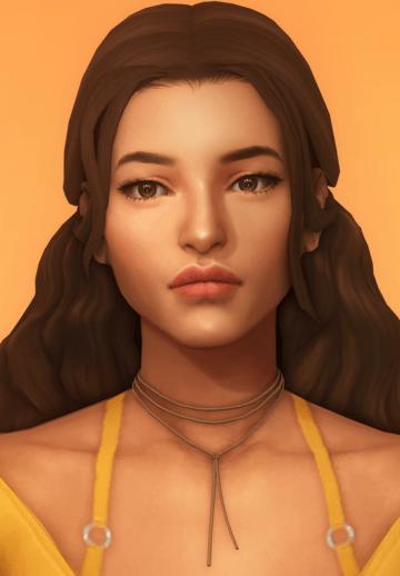 Женская прическа kya hair от dogsill для Sims 4