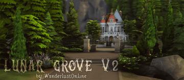 Жилой дом Lunar Grove от WanderlustOnline для Sims 4