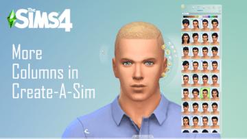 Мод на колонки в КАС для Sims 4 - от 3 до 5 столбцов