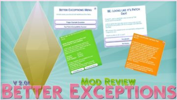 Мод Better Exceptions v2.02 от TwistedMexi для Sims 4