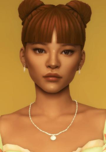 Женская прическа chun-li buns от dogsill для Sims 4