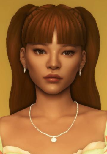 Женская прическа becca pigtails от dogsill для Sims 4