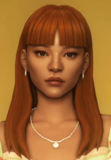 Женская прическа adalene hair от dogsill для Sims 4