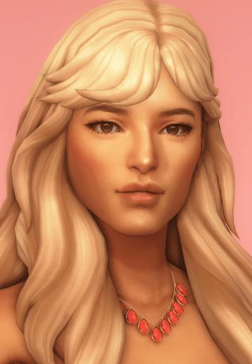 Женская прическа rose hair от dogsill для Sims 4