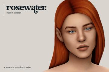Дефолтный скин rosewater от lamatisse для Sims 4