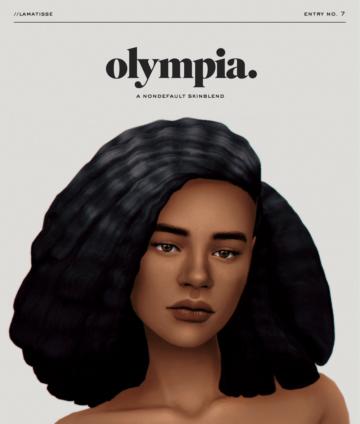 Недефолтный скин olympia от lamatisse для Sims 4