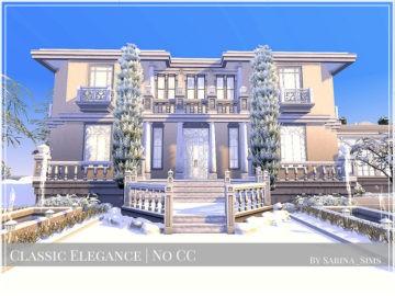 Жилой дом Classic Elegance от Sarina для Sims 4