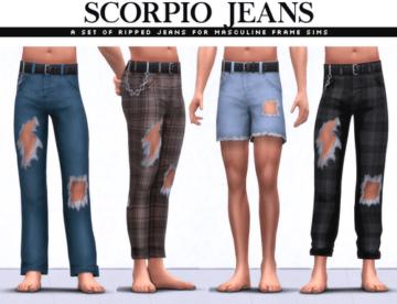 Набор джинсовых брюк и шорт для мужчин - Scorpio Jeans Set