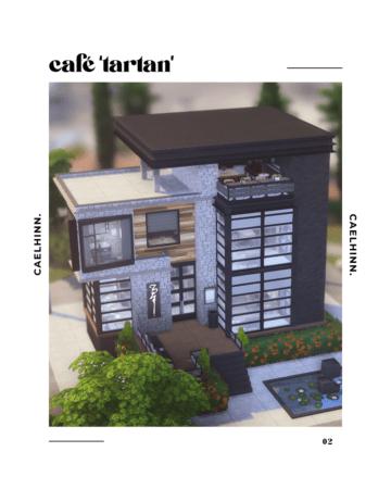 """Стильное современное кафе для Sims 4 - Café """"Tartan"""""""