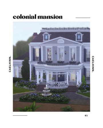 """Дорогой особняк в колониальном стиле - """"Colonial Mansion"""""""