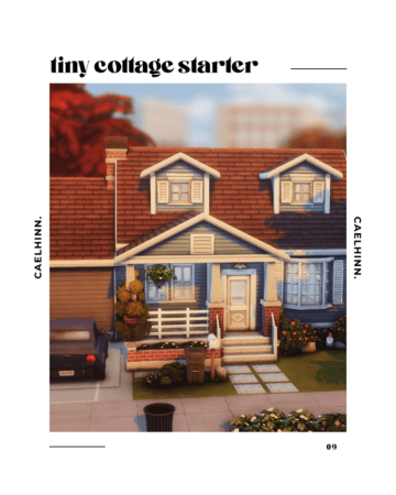 """Крошечный стартовый дом для Sims 4 - """"Tiny Cottage Starter"""""""