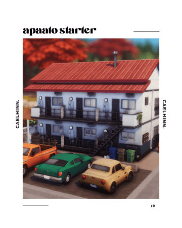 "Мотель для Sims 4 - ""Apaato starter"""