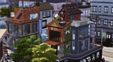 """Многоквартирный дом с рестораном для Sims 4 - """"Marcy Av 3rd St"""""""