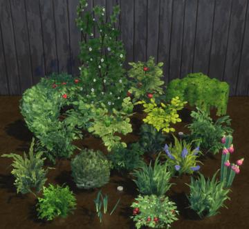 Мод на замену текстуры садовых растений в Sims 4: Harvestable Plants Overhaul