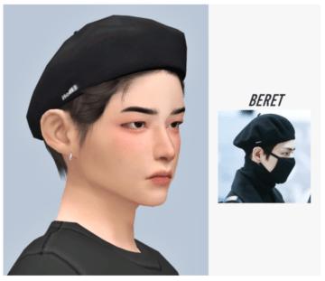 Милый берет в стиле V из BTS для Sims 4 - V-Beret