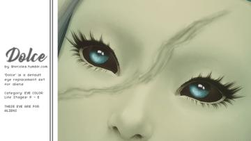 Дефолтные глаза для пришельцев в Sims 4 - Dolce Alien