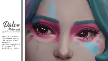 Дефолтные глаза для русалок в Sims 4 - Dolce Mermaid