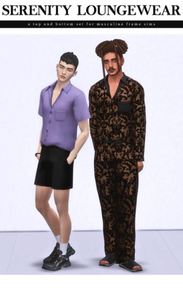 Сет пижам для мужских персонажей - Serenity Loungewear Set
